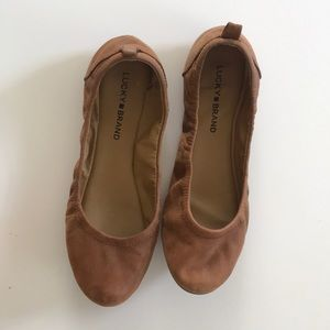 Lucky brand tan ballerina flats